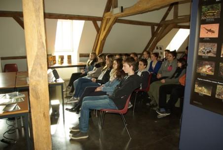 14/03/2014, animation PNVH amphibiens, Athénée de Philippeville, 2ème secondaire