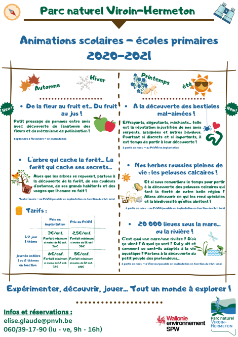 Animations 2020-2021 - primaires